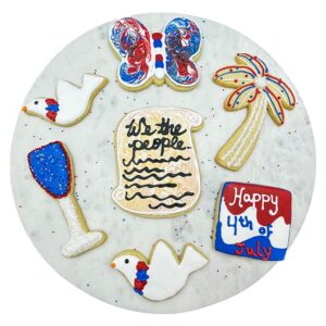 4th of July Decorated Sugar Cookies